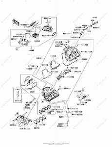 Kawasaki Motorcycle 2013 Oem Parts Diagram For Air Cleaner