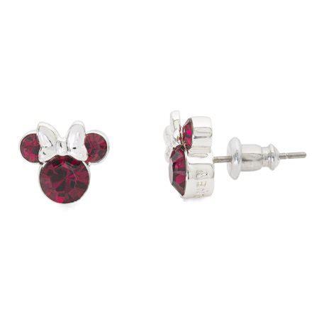 disney minnie mouse july birthstone jewelry silver