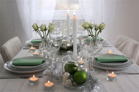 and green christmas table decorations 20 ideas for a fabulous christmas table decoration in silver and green