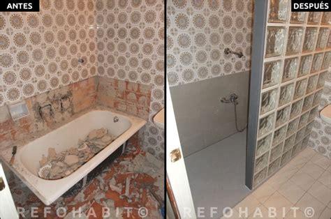 cambio de banera por plato de ducha de resina  paves