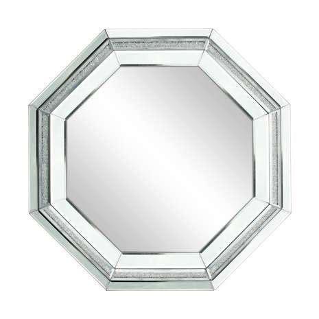 Octagon Bathroom Mirror by Silver Sparkle Boarder Octagonal Mirror From Dunelm