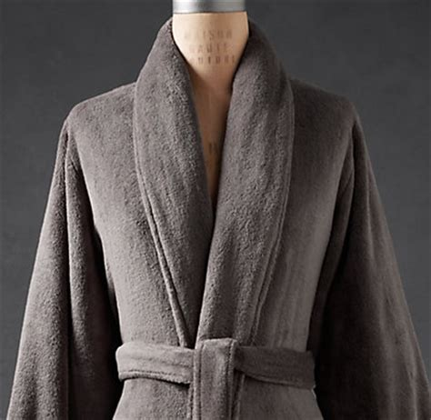 restoration hardware bathrobe luxury plush robe 1913
