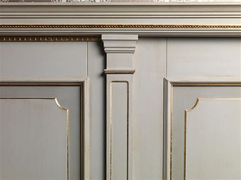 boiserie white  gold detail vimercati classic furniture