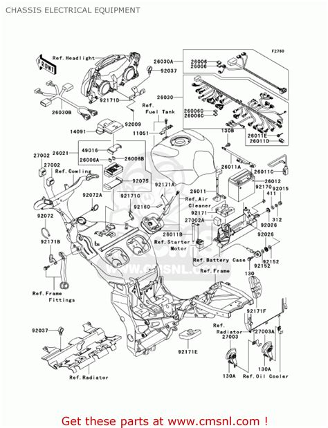 kawasaki zx1200a1 zx12r 2000 usa california canada chassis electrical equipment schematic