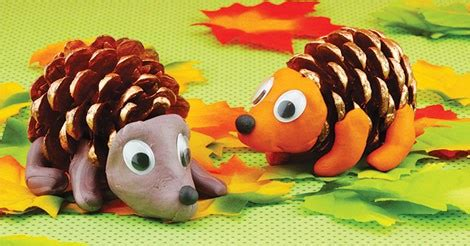 pinecone hedgehogs easy peasy  fun