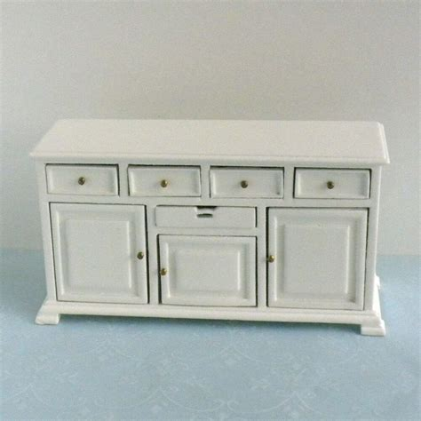 White Painted Sideboard by White Painted Wood Sideboard Buffet Dollhouse