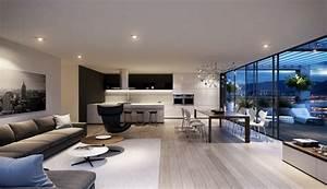 Spacious, Modern, Living, Room, Interiors