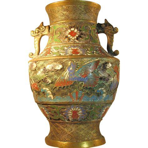 antique brass vase value lg antique japanese chleve bronze brass urn vase 4079