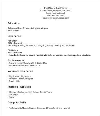 Entry Level Resume Template 9 Entry Level Resume Templates Pdf Doc Free