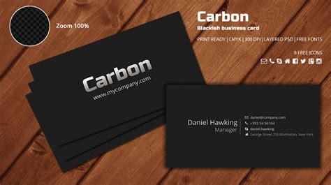carbon blackish business card logos graphics