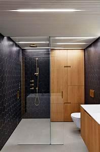 meubles vintage et portes en bois cosy pour agrementer le With porte de douche coulissante avec tapis salle de bain super absorbant