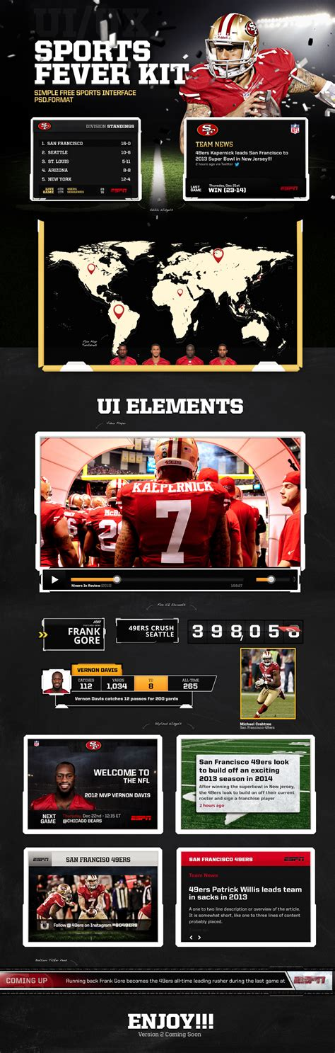 template of a resume sports fever ui kit freebies fribly 25063 | Sports Fever UI Kit1