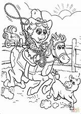 Coloring Cowgirl Pages Getcolorings Printable Print sketch template