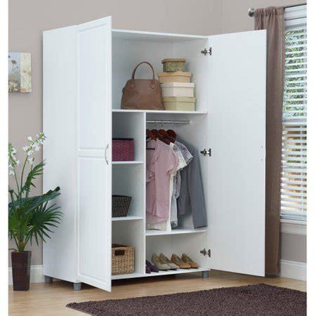 3 Foot Wide Wardrobe by Systembuild 48 Quot Storage Wardrobe Cabinet White