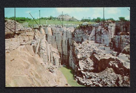 1950s rock of ages granite quarry barre vt washington co