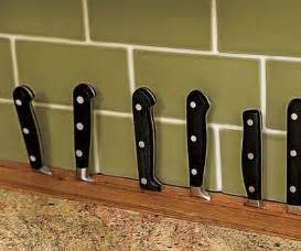 kitchen knives storage built in countertop knife rack kitchen storage design ideas this house