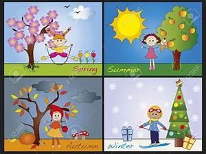 Four seasons clipart - Clipground