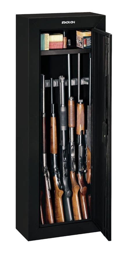 Black Gun Cabinet by Stack On Gcb 908 Steel 8 Gun Security Cabinet Black Gloss