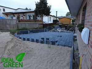 Carport Fundament Größe : einfahrt neubau pflasterfl che fundament carport ideal green ~ Whattoseeinmadrid.com Haus und Dekorationen