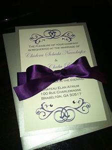 87 best disney wedding invitations images on pinterest With purple disney wedding invitations