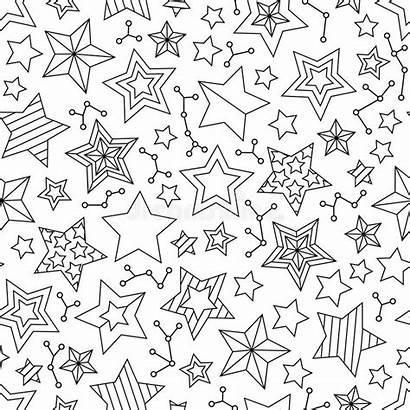 Coloring Stars Pattern Adults Outline Children Older