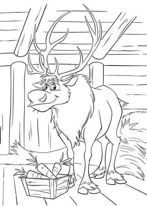 disney frozen sven coloring pages frozen sven   barn coloring page frozen coloring