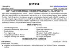 And Gas Production Operator Resume by Expert Global Gas Resume Writer