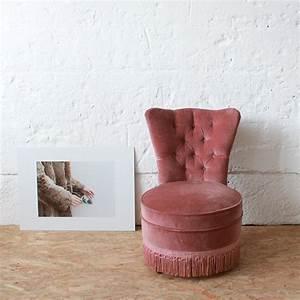 Fauteuil Velours Rose : fauteuil velours vintage confortable atelier du petit parc ~ Teatrodelosmanantiales.com Idées de Décoration