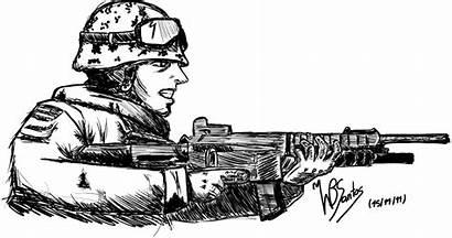 Soldier Warfare Drawings Coloring Shooting Sketch Mw3