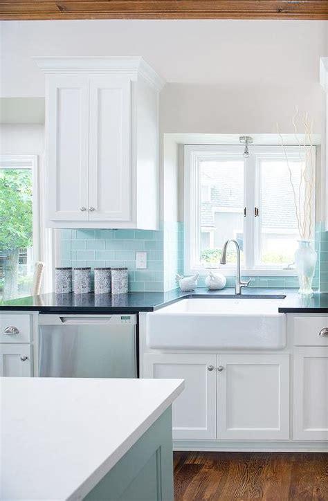 blue backsplash kitchen tiffany blue design ideas