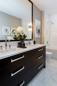 best 25 dark cabinets bathroom ideas on pinterest grey With best brand of paint for kitchen cabinets with purple and grey wall art