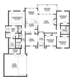 single story open floor plans  story  bedroom  bath french traditional style house