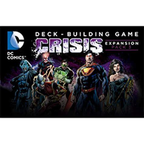 dc deck building expansion pack cryptozoic dc comics deck building crisis