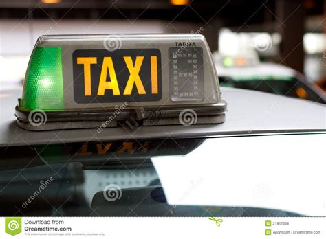 Taxi Light Stock Photo. Image Of Auto, Yellow, Transport