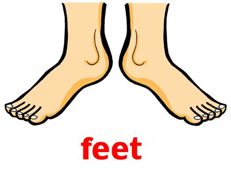 Pencil And In Color Feet Clipart