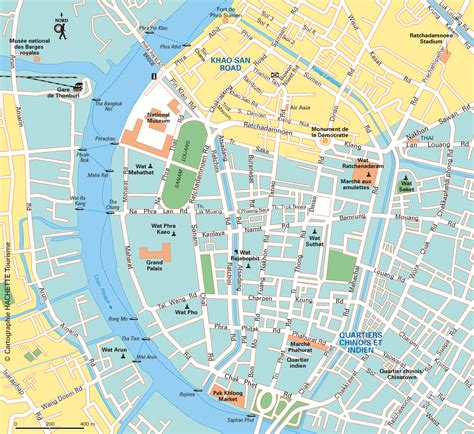 Carte Touristique Centre by Carte Bangkok Plan Bangkok Routard