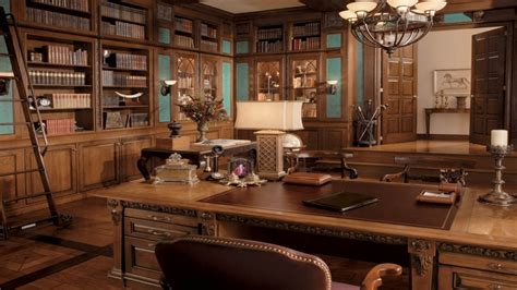 Traditional And Vintage Home Office Interior Design Ideas