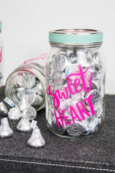 cricut crafts  valentine cricut craft project   love easy candy mason jar diy