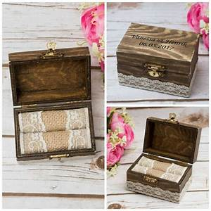 rustic wedding ring box rustic personalized bearer love With his and hers wedding ring box