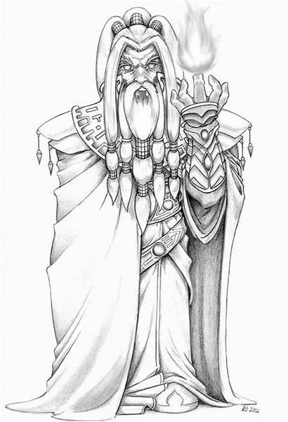 Mage Fire Dwarf Dwarven Fantasy Dnd Coloring