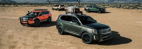 kia lineup 2020 lineup of 2020 kia telluride models in the desert o