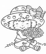 Coloring Strawberry Printable Adults Shortcake Printables sketch template