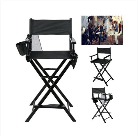 goplus black folding makeup artist directors chair salon