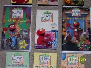 Sesame Street Elmo World Happy Holiday VHS