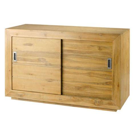meuble bureau porte coulissante meuble avec portes coulissantes en teck achat vente