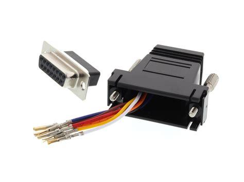 Networx - Modular Adapter Kit - DB15 Female to RJ45 - Black