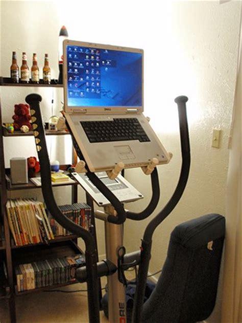 Recumbent Bike Desk Diy by Diy Pvc Laptop Stand For Exercise Equipment Lifehacker