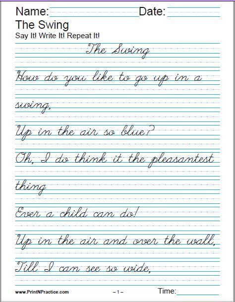 printable handwriting worksheets manuscript and cursive worksheets