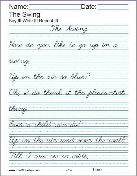 cursive handwriting sheets alphabet cursive writing