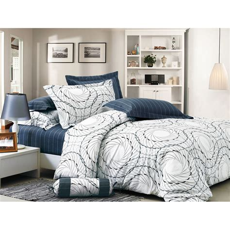 set bed cover space cozy 4pc 100 cotton duvet cover comforter